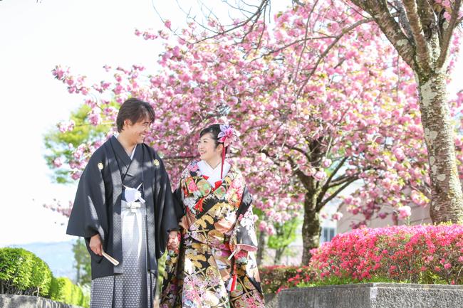 結婚写真 桜ロケ 佐久市