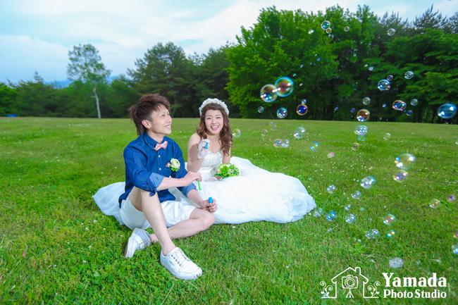 やまびこ公園結婚写真