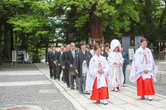 諏訪大社結婚式フォト