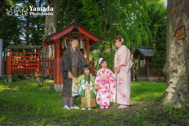 七五三松本市家族で着物