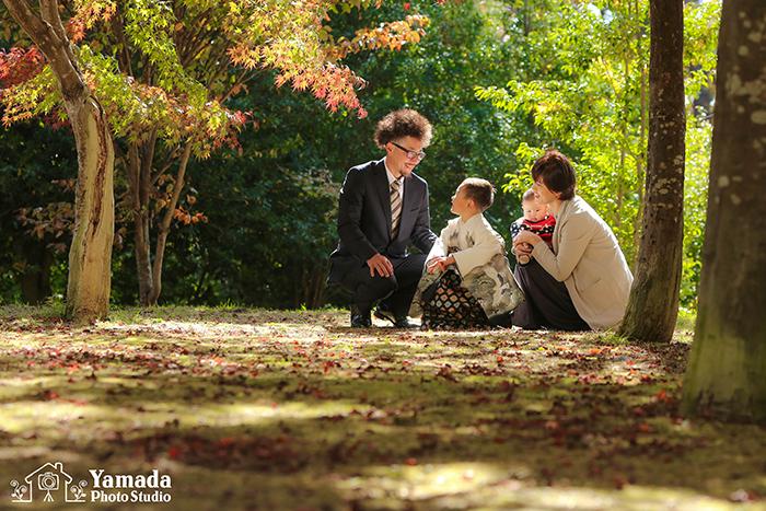 七五三家族写真諏訪市