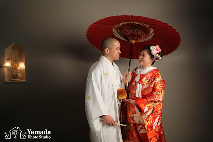 岡谷市打掛結婚写真