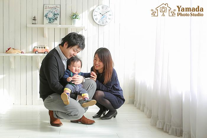 長野県岡谷市家族写真