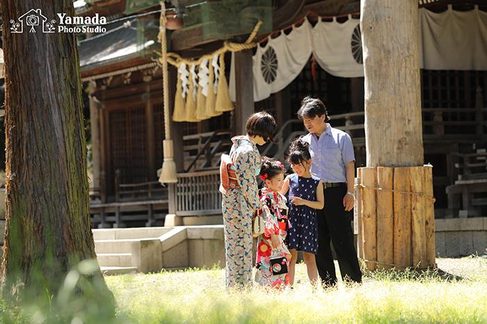 七五三茅野市家族写真