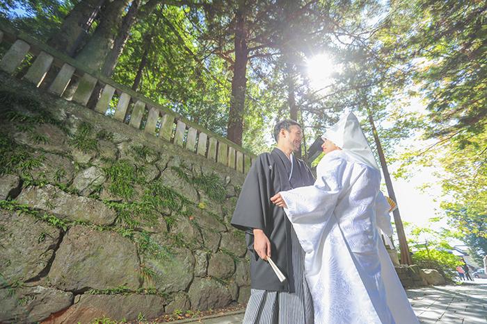 諏訪大社秋宮結婚式打掛