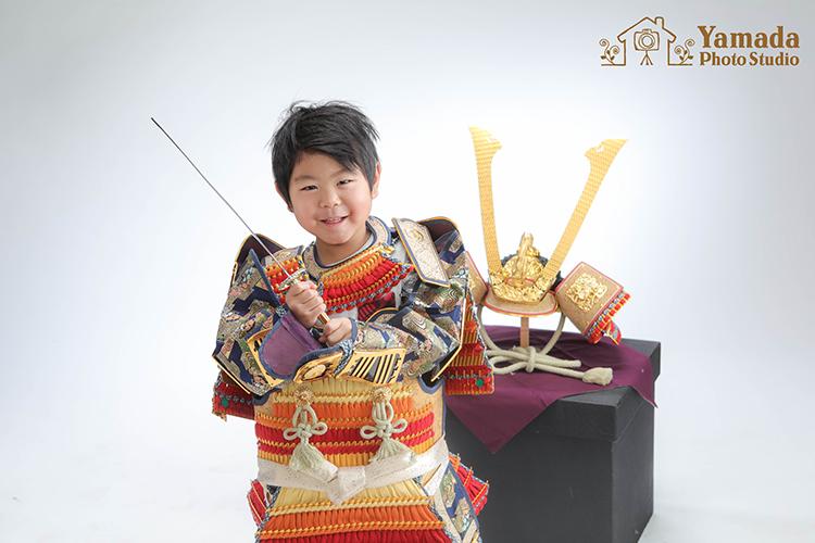 長野県七五三鎧兜