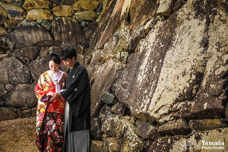 松本城結婚式和装