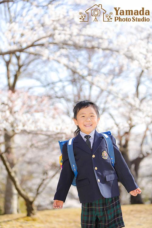 桜入学小学校ロケーション撮影
