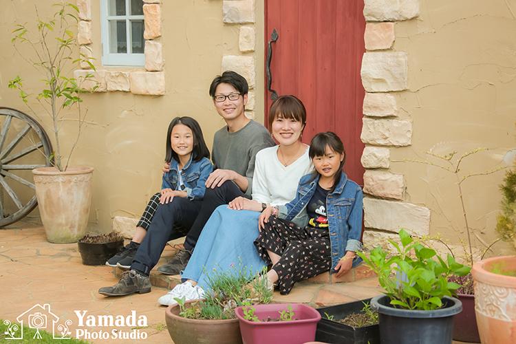 家族写真四人家族スタジオ