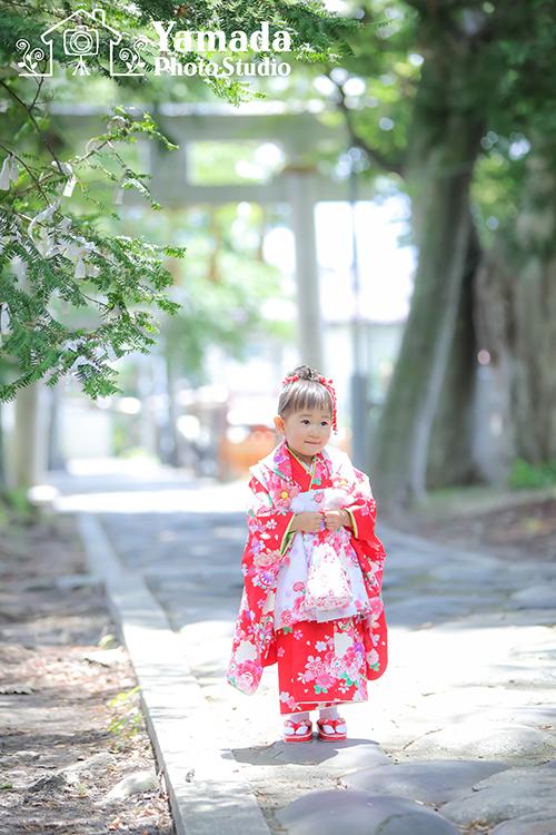 賀茂神社3歳お被布岡谷市