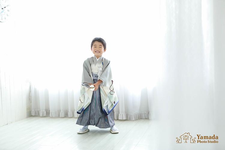7535歳男の子刀岡谷市写真館