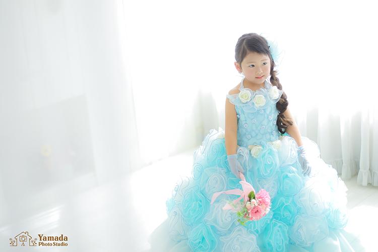 三つ編みドレス3歳モデルキャンペーン
