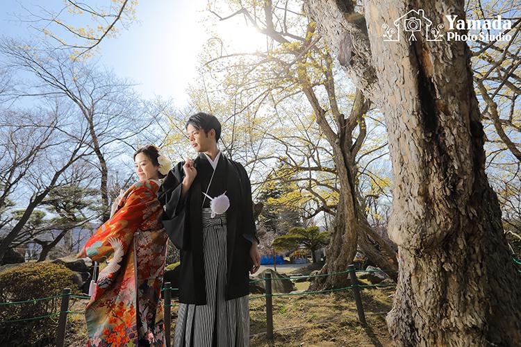 諏訪市高島城結婚写真