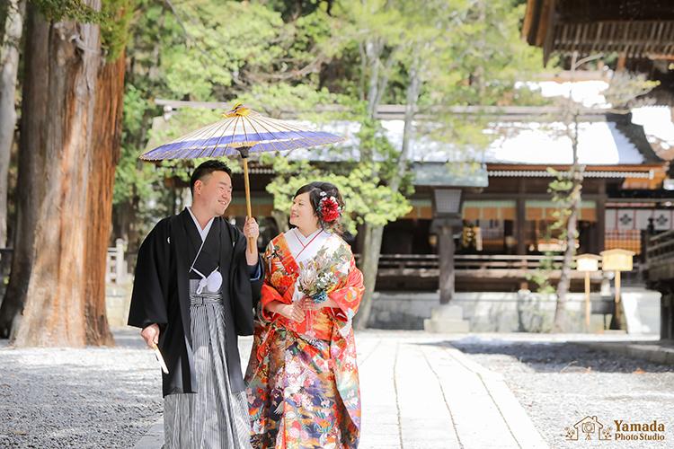 諏訪大社下社秋宮神前結婚式