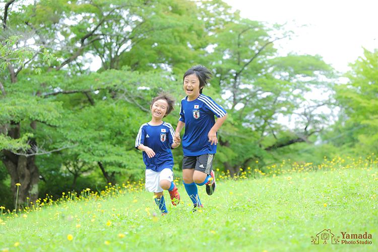 サッカー少年キャンペーン撮影