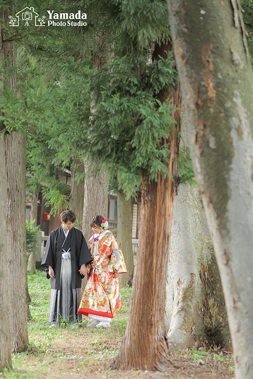 岡谷神社結婚前撮り