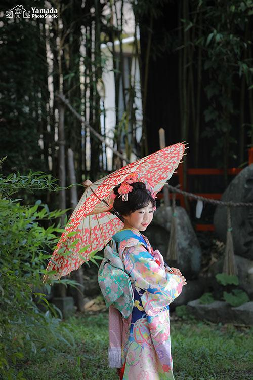 7537歳和傘日本髪岡谷市