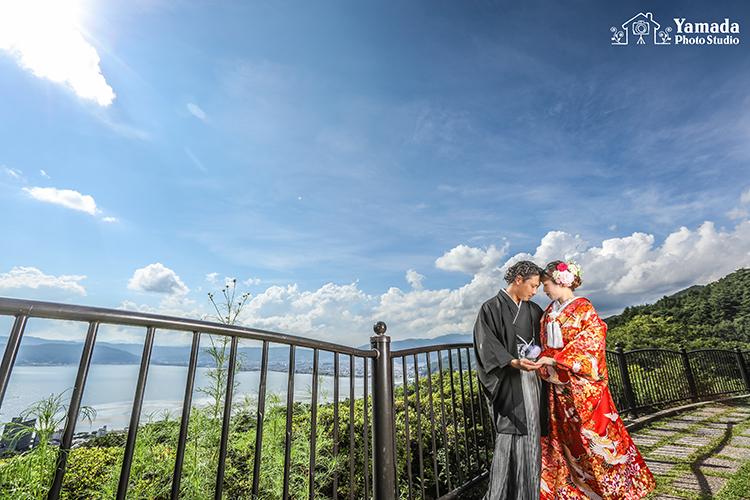 諏訪湖結婚写真