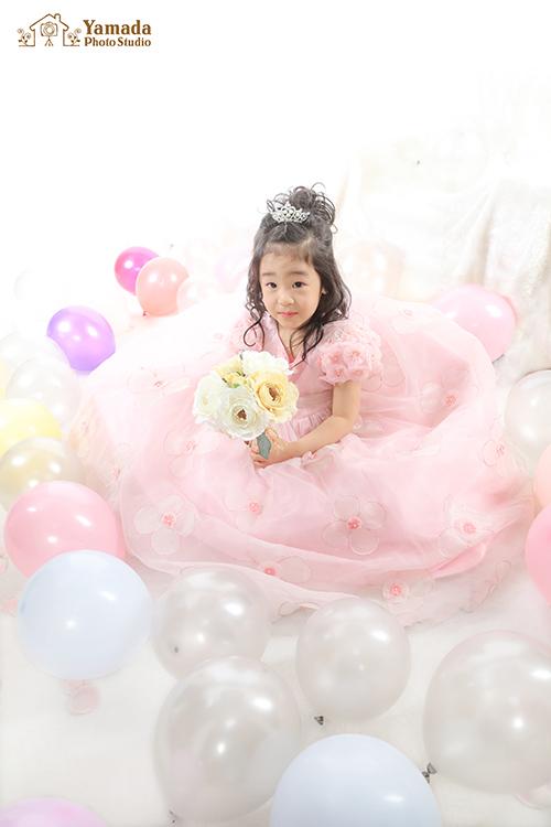 ピンクのドレス753