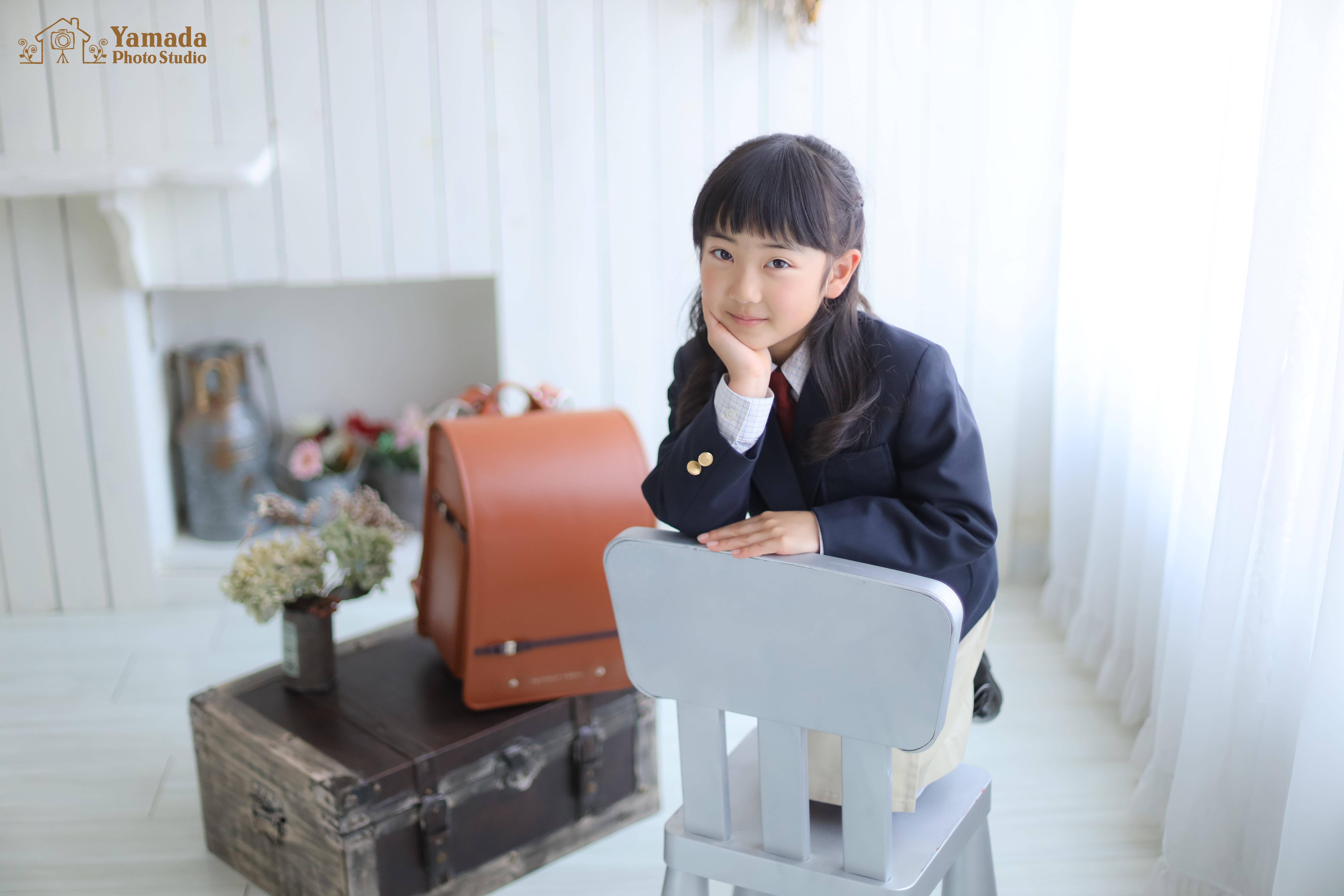 岡谷市写真館入学記念撮影