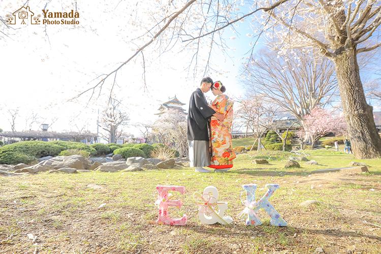 松本 前撮り 桜