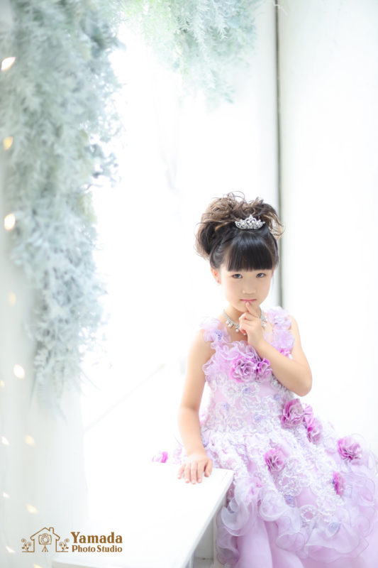 ドレス七五三記念撮影7歳