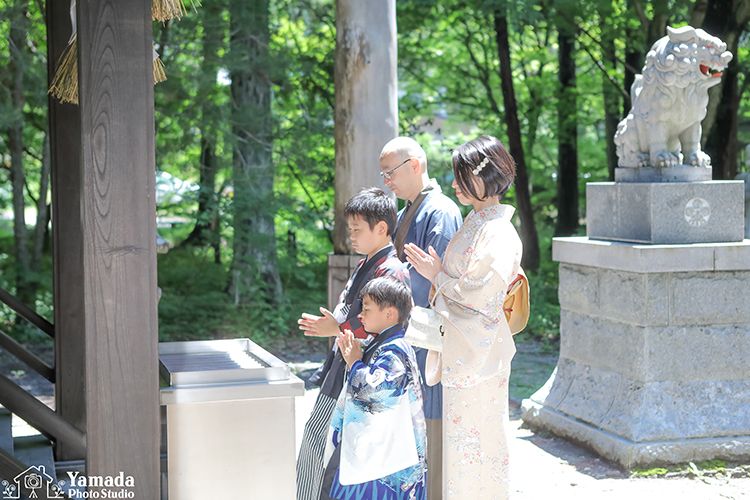 5歳着物お参り賀茂神社