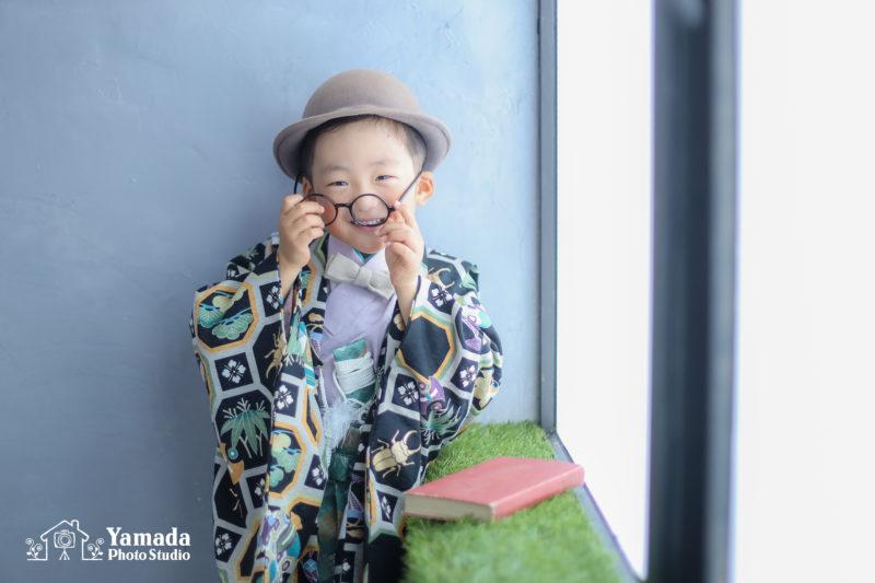 メガネ5歳羽織袴753記念