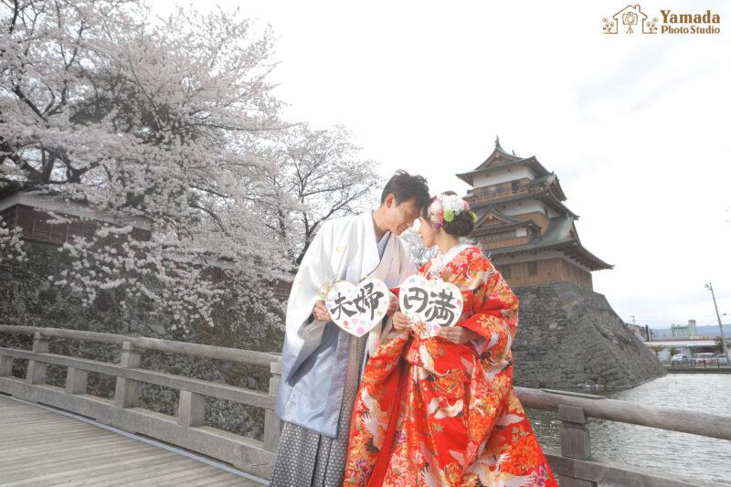 高島城桜ウエディング