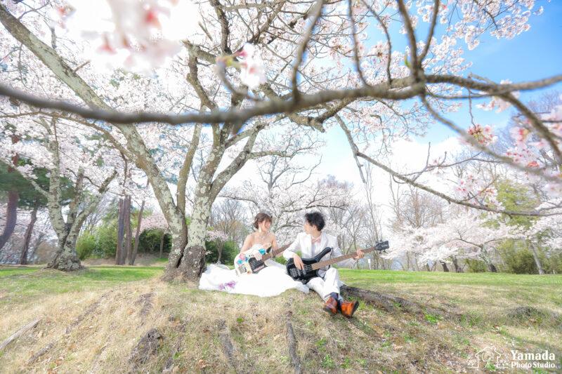城山公園桜ウエディング