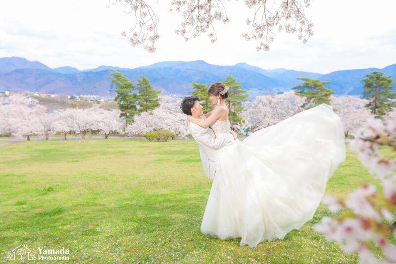 城山公園桜ウエディングフォト