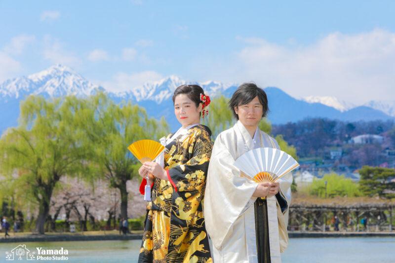 桜和装ロケ撮影