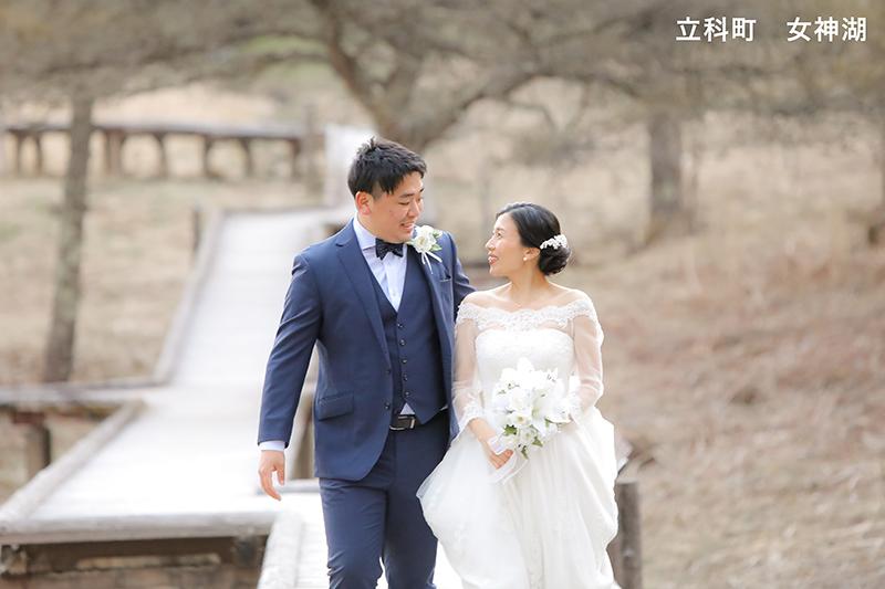 女神湖結婚写真