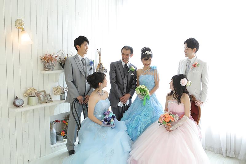ウェディングドレス結婚式タキシード