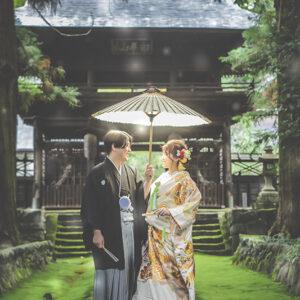 下諏訪町にて結婚写真
